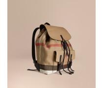 Rucksack mit Canvas Check-Muster