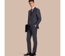 Modern geschnittener Half-Canvas-Anzug aus Wolle