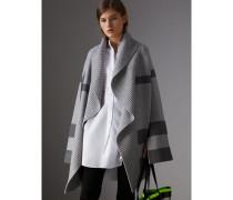 Cardigan-Mantel aus Wolle und Kaschmir mit Karomuster