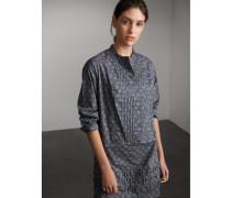 Hemdkleid aus Baumwolle im Blätterdesign mit Biesendetail