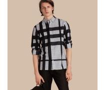 Jacquard-gewebtes Hemd Aus Baumwollflanell In Check