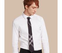 Körperbetontes Hemd aus Stretch-Baumwollpopelin