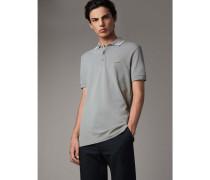 Poloshirt aus Baumwollpiqué mit Streifendetail
