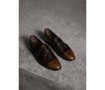 Loafer aus Lackleder mit Troddeln