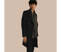 Eng anliegender Mantel aus Wolle und Kaschmir