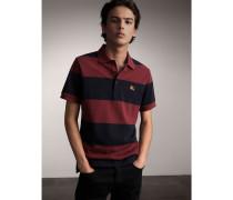 Gestreiftes Poloshirt aus Baumwollpiqué