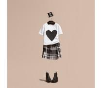 Baumwoll-t-shirt Mit Herzmotiv