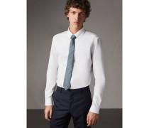 Körperbetontes Hemd aus Baumwollpopelin mit Button-down-Kragen