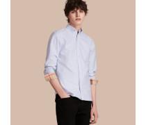 Oxford-hemd Aus Baumwolle Mit Check-detail
