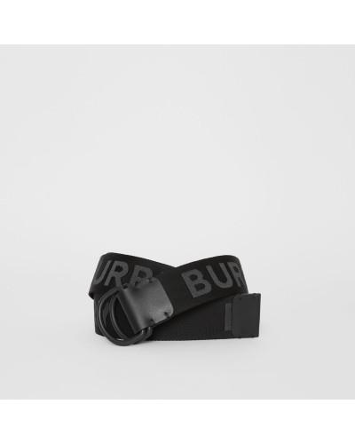 Gürtel mit doppeltem D-Ring und Logodetail