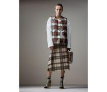 Wendbare Steppweste aus Baumwolle mit Schottenmuster
