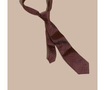 Klassisch Geschnittene Krawatte Aus Seidentwill Mit Punktmuster