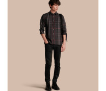 Hemd aus Stretchbaumwolle mit Check-Muster