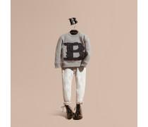 Sweatshirt aus Baumwolljersey mit dekorativem Buchstabenmotiv