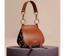 The Bridle Bag aus Kalbfell mit Leopardenmuster und Leder