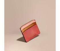 Kartenetui aus Leder im Colour-Blocking-Design