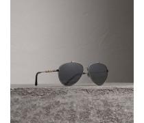 Fliegersonnenbrille mit Karodetail