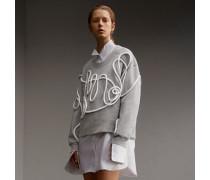 Unisex-Sweatshirt aus Jersey mit gebürsteter Innenseite und Schlaufendetail