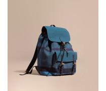 Rucksack mit überfärbtem Canvas Check-Muster