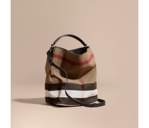 The Medium Ashby in Canvas Check und Leder