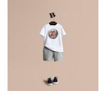 """T-Shirt aus Baumwolle mit """"Pallas Heads""""-Motiv"""