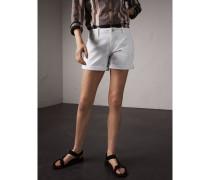 Shorts aus Power-Stretchdenim mit niedriger Leibhöhe