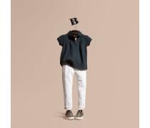Poloshirt aus Baumwollpiqué mit Peter-Pan-Kragen