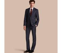 Modern geschnittener Full-Canvas-Anzug aus Wolle und Seide