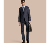 Modern geschnittener Half-Canvas-Anzug aus Wolle und Seide