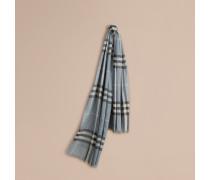 Leichter Schal aus Wolle und Seide mit Check-Muster
