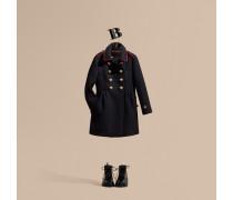 Mantel Aus Einer Mischung Aus Wolle Und Kaschmir Mit Detail Im Armeestil