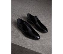 Derby-Schuhe aus poliertem Leder mit Brogue-Details