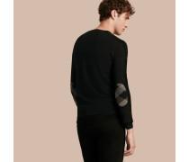 Wollpullover mit Check-Detail am Ellenbogen