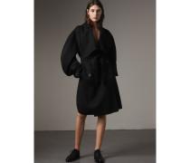 Formschöner Mantel aus doppelseitig gewebter Wolle und Kaschmir