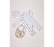 Dreiteiliges Baby-Geschenkset aus Baumwolle
