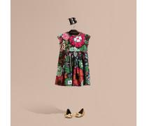 Kleid Aus Baumwollseide Mit Floralem Muster