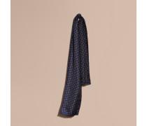 Seidenschal mit Druckmotiv in Krawattenoptik