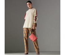 Oversize-Pullover aus Wolle und Kaschmir mit Streifendetail