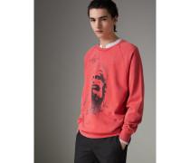 Sweatshirt aus Baumwolle mit Porträtmotiv