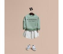 Gestreiftes Baumwoll-Sweatshirt