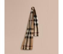 Leichter Schal aus Wolle und Kaschmir mit Check-Muster