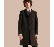 Mantel aus einer Wollmischung mit Samtkragen