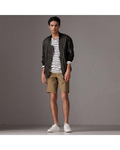Chino-Shorts aus Baumwolltwill