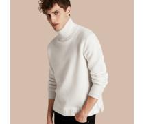 Pullover aus Wolle mit Trichterkragen