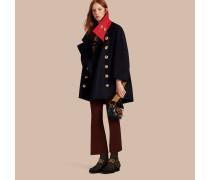 Extragroßer Mantel aus Kaschmir und Wolle