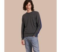 Pullover aus Kaschmir und Baumwolle im Colour-Blocking-Design