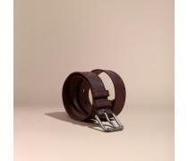 Gürtel aus Leder mit Check-Prägung