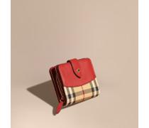 Brieftasche in Horseferry Check mit Lederbesatz