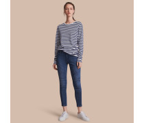 Skinny-Jeans aus japanischem Stretchdenim mit Nahtdetail