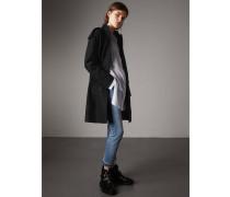 Kragenloser Mantel aus einer Wollmischung